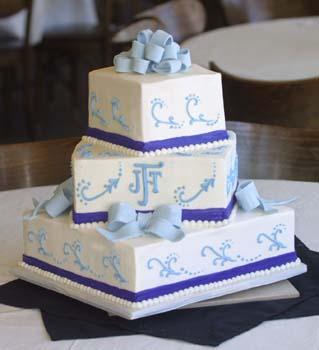 wedding blue fond bows