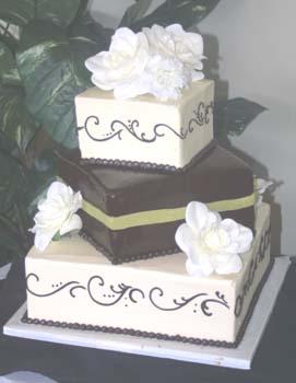wedding square with ganache
